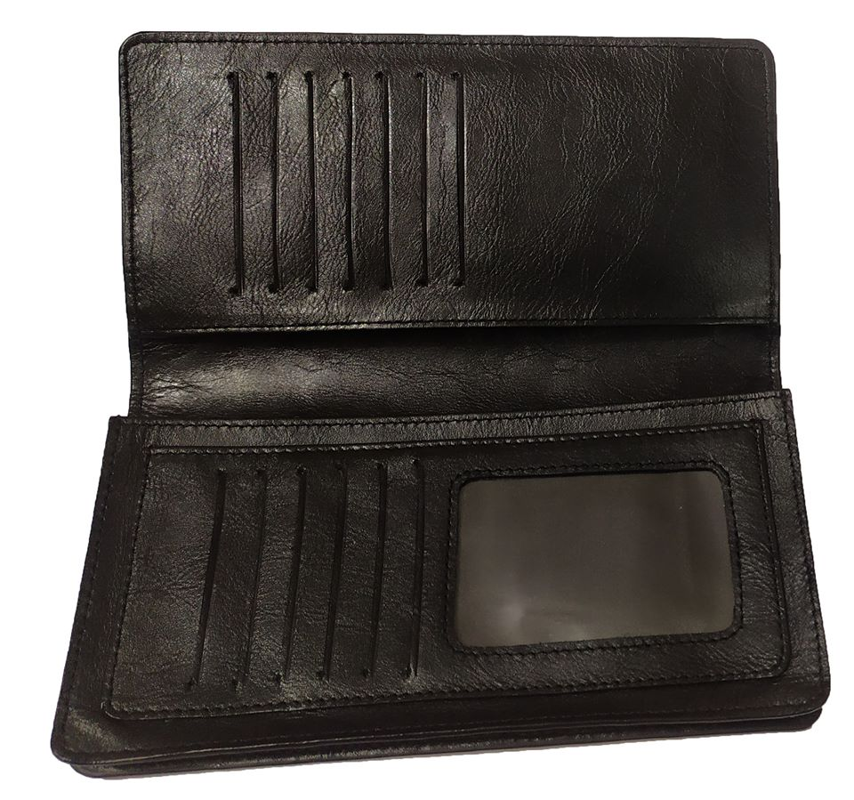 Leather Long Wallet Cum Mobile Cover F46