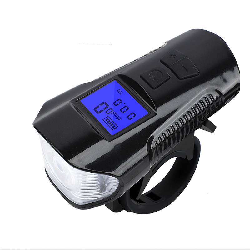 Stop Watch Horn Bicycle Front LED Light